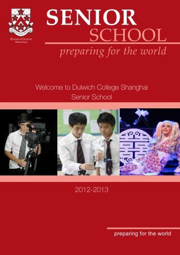 preparing for the world - Dulwich College Shanghai