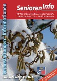Senioren-Info 1'2013 - LandesSeniorenVertretung Bayern
