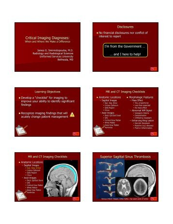 Critical Imaging Diagnoses: - Radiology