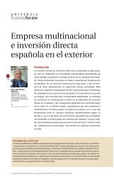 Empresa multinacional e inversión directa española en el exterior