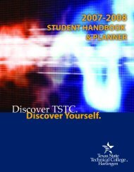 Student Handbook - Texas State Technical College Harlingen