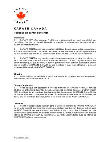 KARATÉ CANADA - Karate Canada