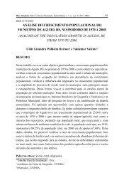 análise do crescimento populacional do município - Apresentação ...