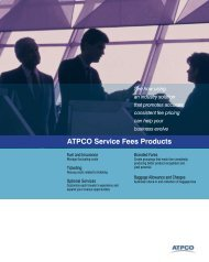 ATPCO Service Fees Products