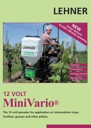 The 12 volt spreader for application on ... - Lehner Agrar GmbH