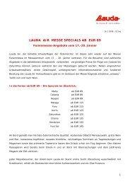 LAUDA AIR MESSE SPECIALS AB EUR 89