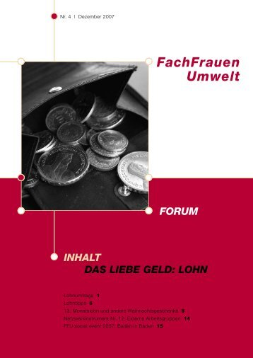 Forum 4/2007 - FachFrauen Umwelt