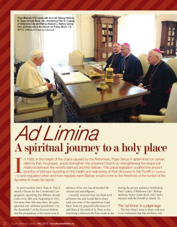 A spiritual journey to a holy place - Diocese of Tulsa