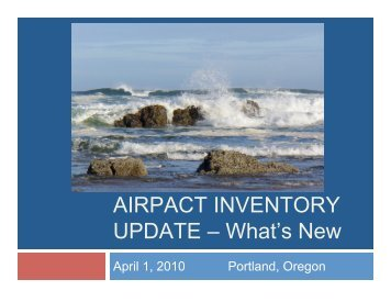 EI Workgroup Report, including an analysis of the inventory relative ...