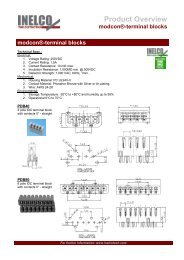 Product Overview modcon®-terminal blocks - INELCO