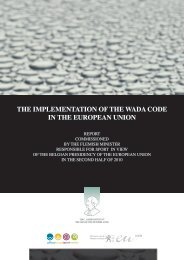 the implementation of the wada code in the european union