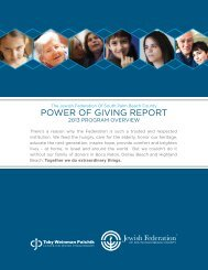 2013 Program Overview - PDF File - Jewish Federation of South ...