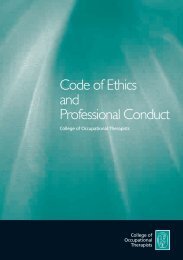 Code of Ethics and Professional Conduct - College of Occupational ...