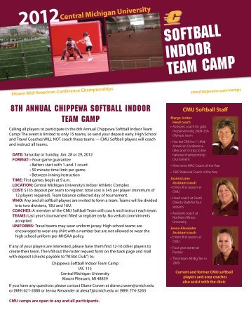 Indoor Team Camp.pdf - Central Michigan University Athletics