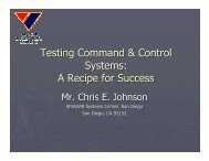 Testing Command & Control Systems - The Workshop On ...
