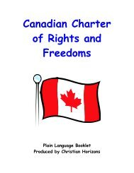 Canadian Charter of Rights and Freedoms – Plain Language