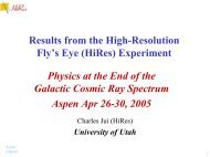 Results from the High-Resolution Fly's Eye (HiRes) Experiment ...