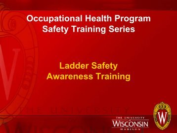 Ladder Safety Awareness Training