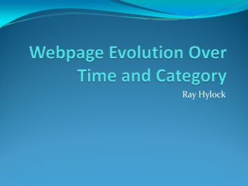 Webpage Evolution Over Time and Category - Dollar Biz Uiowa