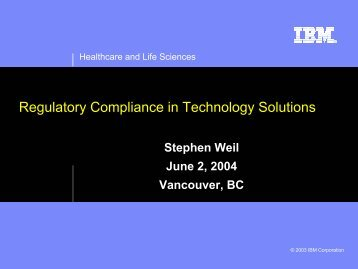 Regulatory Compliance in Technology Solutions - Life Sciences