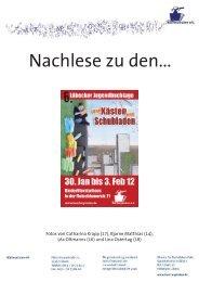 Nachlese der 6. Lübecker Jugendbuchtage 2012