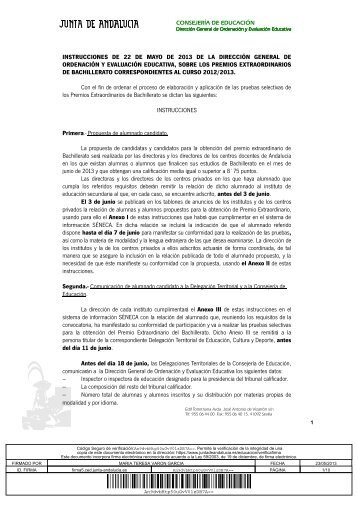 instrucciones de 22 de mayo de 2013 de la dirección general de ...