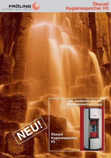 Der neue Ökocell-Hygienespeicher H3 von ... - Fröling Heizkessel