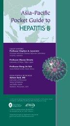 Asia-Pacific Pocket Guide to HEPATITIS B - Hepatitis B Foundation