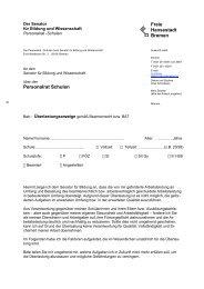 Freie Hansestadt Bremen Personalrat Schulen