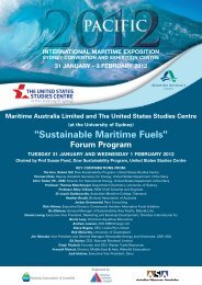 Sustainable Maritime Fuels - United States Studies Centre