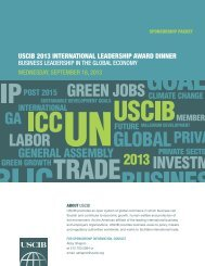 PRIVAtE SECtoR - U.S. Council for International Business