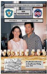 Volume 36 Issue 8, August 2009 - Maumee Valley - Porsche Club of ...