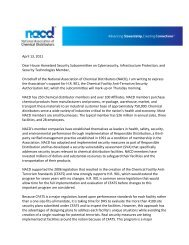 NACD Letter to House Infrastructure Protection Subcommittee in ...