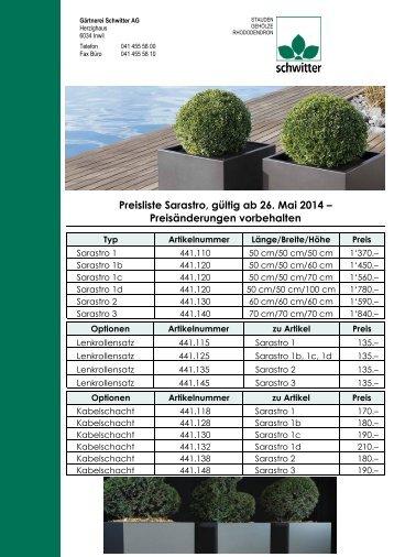 zur Preisliste im PDF-Format... - Gärtnerei Schwitter AG