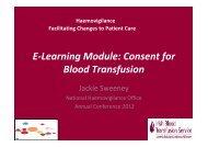 E-Learning Module - Irish Blood Transfusion Service