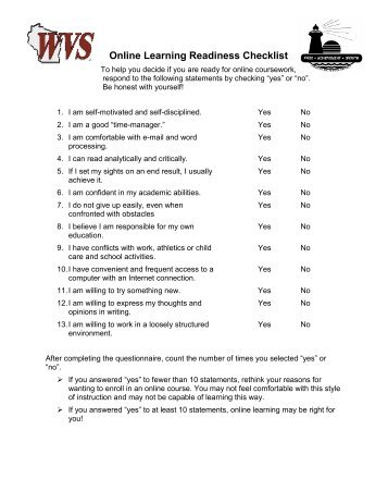 Virtual Learning Online Student Packet - Fond du Lac School District