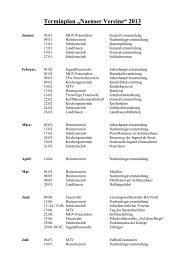Termine Vereine 2013 - Arcor.de
