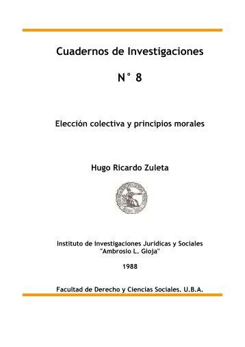 Elección colectiva y principios morales - Facultad de Derecho