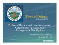 Weston & Sampson presentation on Task 1 from - Town Of Orleans