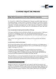 Bilan 2012 et perspectives 2013 de l'industrie cimentière - Febelcem