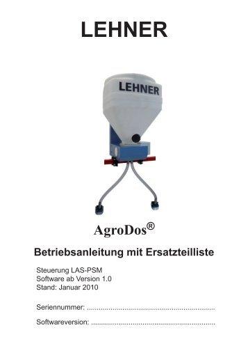 2 AgroDos® in Betrieb nehmen - Lehner Agrar GmbH