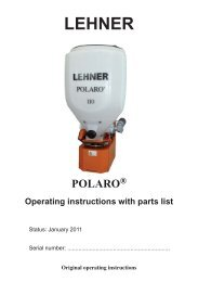 3 Operating the POLARO - Lehner Agrar GmbH