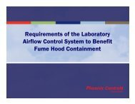 Lab Airflow Control—System Requirements for Hood Containment