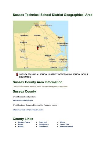 to view the STSD Geographical Area Information. - Sussex ...