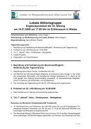 23. LAG-Sitzung am 14.01.2009 - bei Leader im Aller-Leine-Tal