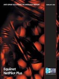 Equiinet - NetPilot, CachePilot, SecurePilot (pdf ... - West Coast Labs