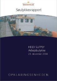 HEIDI SUPPLY - arbejdsulykke den 23. december ... - Søfartsstyrelsen
