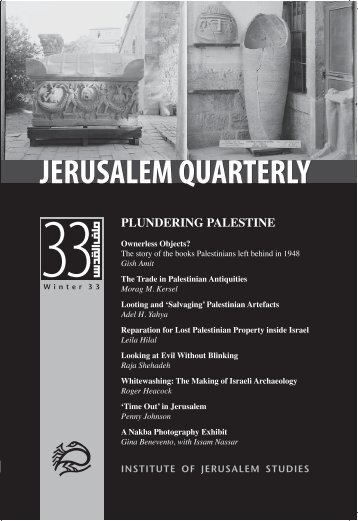 PLUNDERING PALESTINE - Jerusalem Quarterly