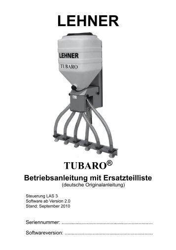 3 TUBARO® bedienen - Lehner Agrar GmbH