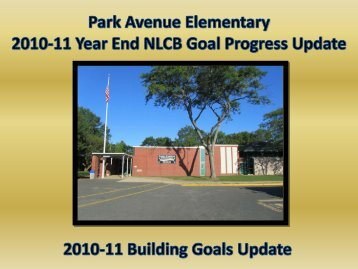 2010-11 Board Update on PAE Goals FINAL - Freehold Borough ...
